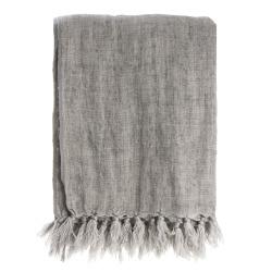 Pledd Olivia 100% lin grå 125x160 cm