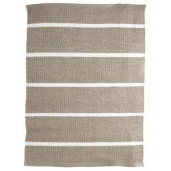 Dørmatte plast beige m/hvite striper 50x70 cm