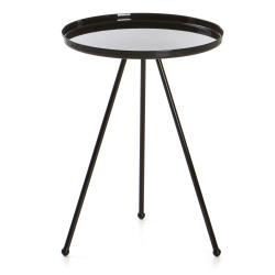 Bord Tea rundt metall sort Ø:36,5 H:49 cm