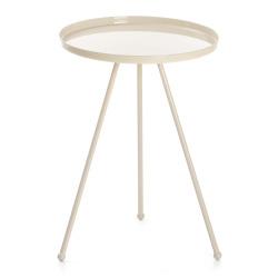 Bord Tea rundt metall beige Ø:36,5 H:49 cm