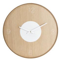 Klokke til vegg MDF foliert eik Ø:45 cm