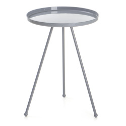Bord Tea rundt metall grå Ø:36,5 H:49 cm