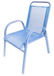 Barnestol stablebar lys blå
