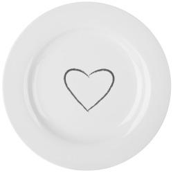 Madame frokosttallerken m/hjertedekor Ø:22,8 cm