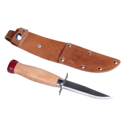 Speiderkniv i lær slire