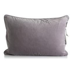 Putetrekk i bomullsvelour grå 40x60 cm