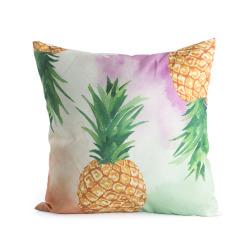 Pute i polyester m/print ananas 45x45 cm
