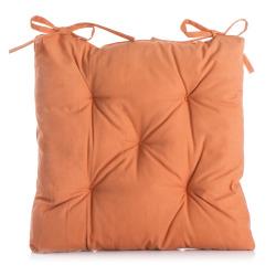 Stolpute m/knytting orange 42x42 cm