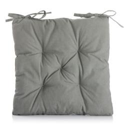 Stolpute m/knytting grå 42x42 cm