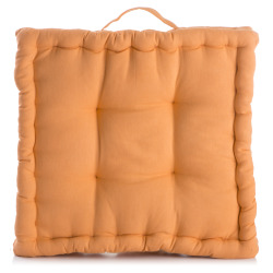 Bokspute m/håndtak orange 43x43 cm