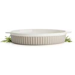 Ildfast form Bistro oval beige 39x23 cm