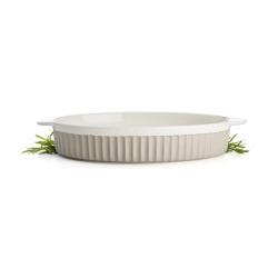 Ildfast form Bistro oval beige 36x21 cm