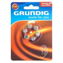 Batteri høreapparat nr13 6 pk Grundig