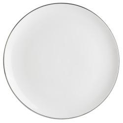 Enjoy Middagstallerken Saga hvit med sølvkant  H:2 B:27,5 D:27,5