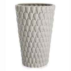 Vase m/dråpestruktur grå H:25,5 cm