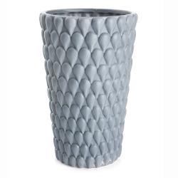 Vase m/dråpestruktur blå H:25,5 cm