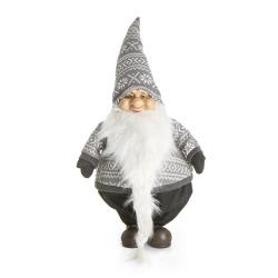 Nisse m/grå/hvit genser H:72 cm