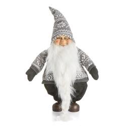 Nisse m/grå/hvit genser H:52 cm