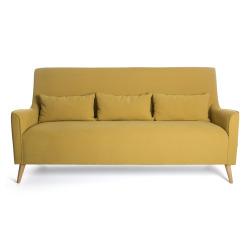 Sofa 3-seter okergul m/3 puter