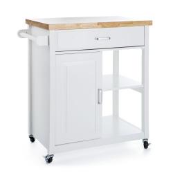 Kjøkkentralle med skap hvit H:89 cm
