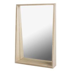 Speil med ramme i eik H:65 B:40 cm