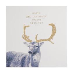 Bilde reinsdyr med glitter 25x25x2,5cm