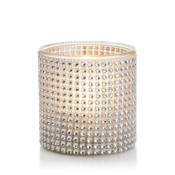Telysglass m/strass H:10 Ø:10 cm
