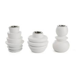 Lysestaker s/3 i PVC boks hvit