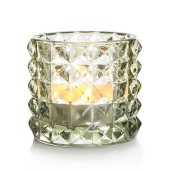 T-lys glass Diana glass grønn H:8,5 cm