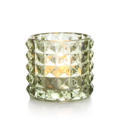 T-lysglass Diana glass grønn H:6,5 cm