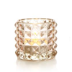 T-lysglass Diana glass brun H:6,5 cm