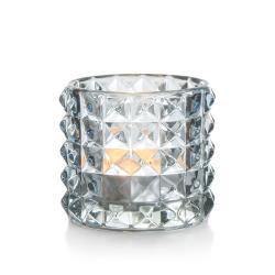 T-lysglass Diana glass blå H:6,5 cm