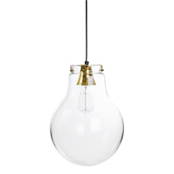 Taklampe glasskule m/holder i gull Ø:36cm