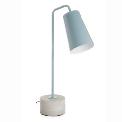 Bordlampe i petrolfarget stål