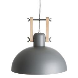 Taklampe i metall grå
