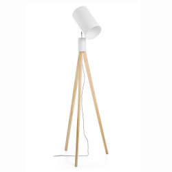 Gulvlampe med 3 ben hvit H:159cm