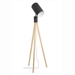 Gulvlampe med 3 ben sort H:159cm