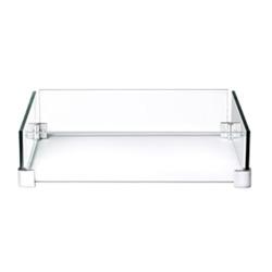 Glasskjerm kvadratisk til bord 422049 Napoleon