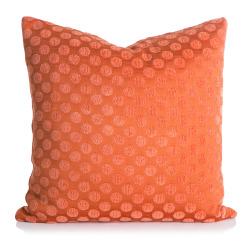 Pute m/dunfyll orange chenille 45x45 cm