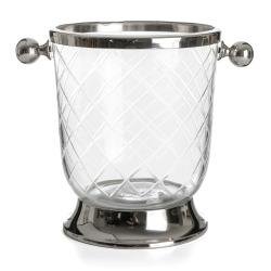 Isbøtte slipt glass H:26 cm
