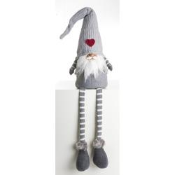 Nisse grå m/lange myke ben H:110 cm