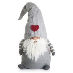 Nisse grå m/høy hatt H:89 cm