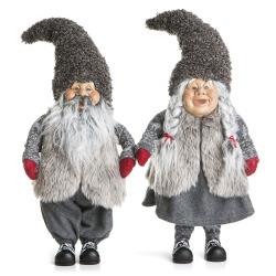 Nisse 2 ass mann/kone grå H:56 cm