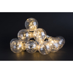 Lyslenke 10 stk lyspærer 1,65m