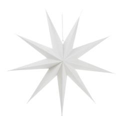 Papirstjerne 9-armet hvit 70cm