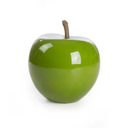 Dekoreple H:20 cm fiberstone grønn