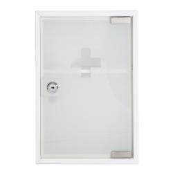 Medisinskap 2 rom frostet glassdør 21,5x32 cm