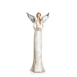 Dekorengel Maria m/vinger i sølv 28 cm