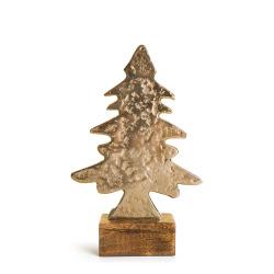 Dekorfigur Lodge tre på fot gull 25 cm