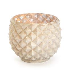 Telysholder Tåke m/diamantmønster h:8 ø:7,5 cm